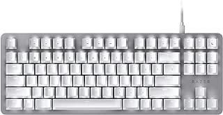 BlackWidow Lite Mechanical Tenkeyless Keyboard: Orange Key Switches - Tactile & Silent - White Individual Key Lighting - Compact Design - Detachable Cable - Mercury White