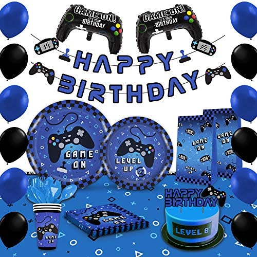 Blue Video Game Party Supplies – Gaming...
