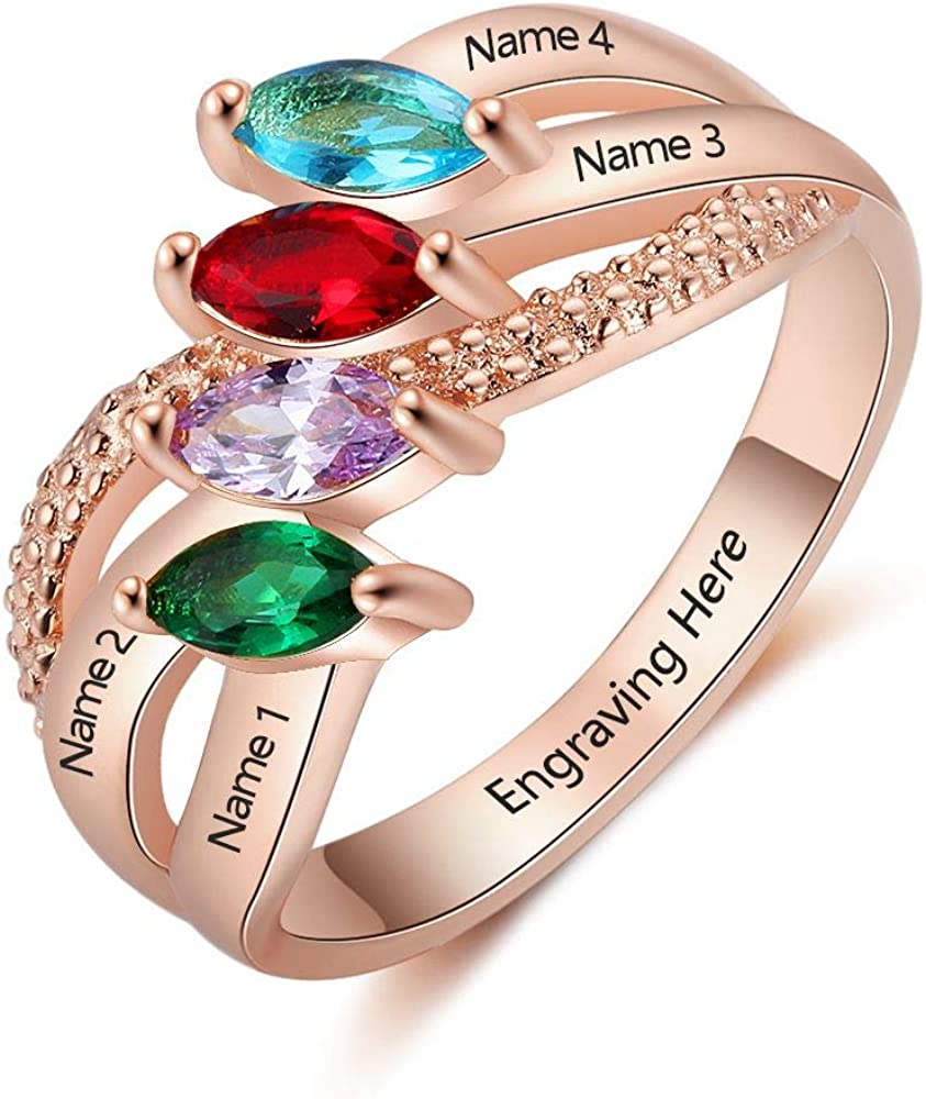 Lam Hub Fong Lowest price challenge Personalized Sterling Today's only Silver with Mother Rings Si 4