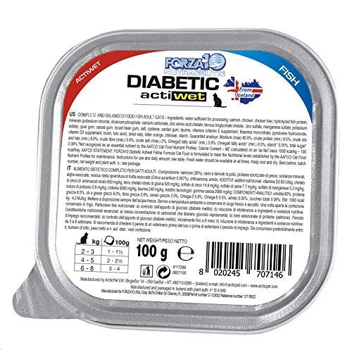 Forza10 natte voering voor katten met diabetes, per stuk verpakt (1 BOXC x 32 stuks)