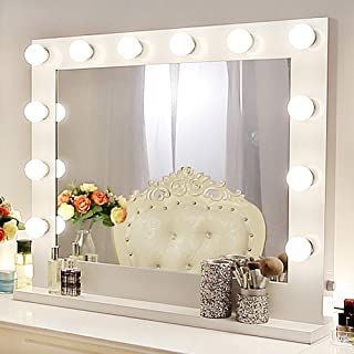 Chende Vanity Mirror with Light Hollywood Makeup Mirror Wall Mounted Lighted Mirror + 14 Free LED Bulbs (31.5'' x 25.6'')