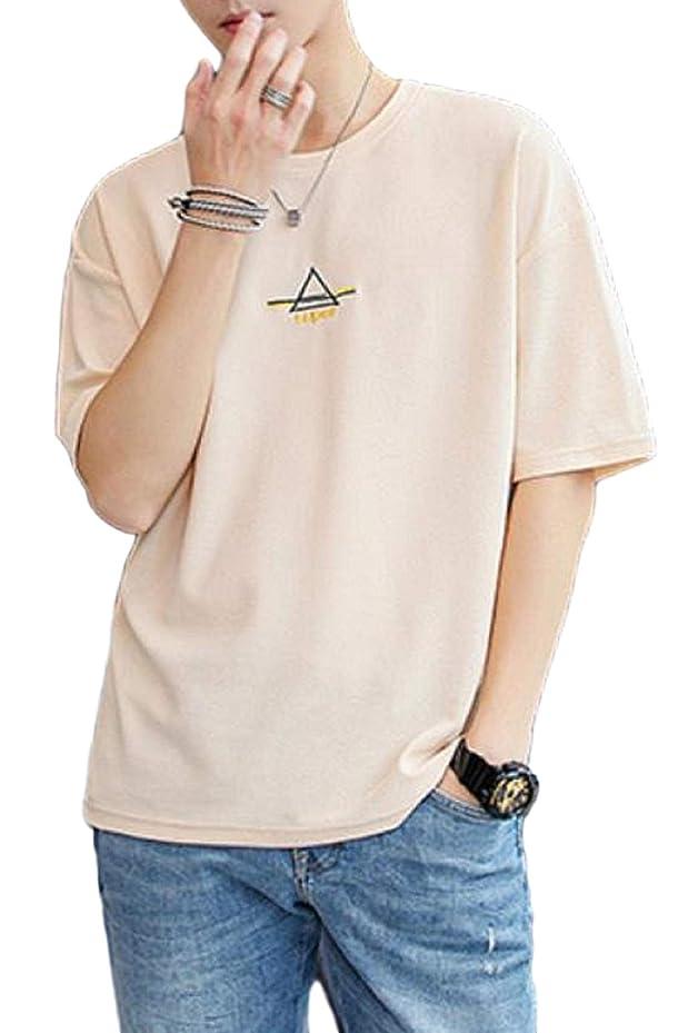 ネズミより平らな力強い[アルトコロニー] ワンポイント カットソー ロゴ ティーシャツ スポーツ 半そで ユッタリ カジュアル 綿 M ~ XL メンズ