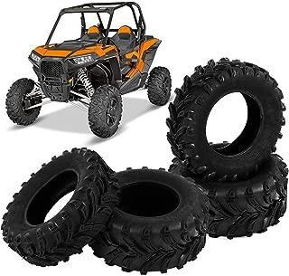 ATV UTV 6 Ply Tires 25x8-12 & 25x10-12 Tubeless A021 6-ply, Set of 4 Front Rear Tire Set