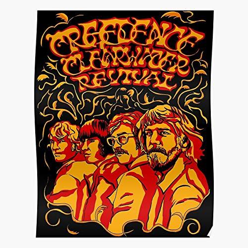 Yoyoloco Clearwater Revival Creedence Hippie CCR 60S Acid Home Decor Wandkunst drucken Poster !