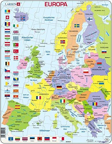 Larsen K2 Europa Puzzle 48 Teile