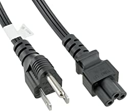 ACP1041 USA NEMA 5-15 Standard 3 Prong Plug to IEC C5 Laptop 6 Foot (1.83 Meters) Power Cord with UL Certification. Most commonly Used as a Laptop Power Cord for Standard USA outlets.