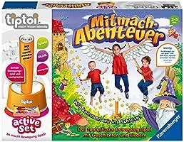 Ravensburger tiptoi 00044 active Set Mitmach-Abenteuer, Kinderspiel ab 3 Jahren, Bewegungsspiel mit Geschichten, schönen...