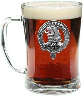 Pentland Scottish Clan Crest Badge Glass Beer Mug