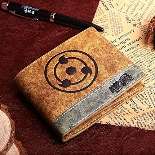 nobrand Anime Brieftasche Naruto Cosplay Studenten Brieftasche Kunstleder Schlanke Geldbörse Portemonnaie Kreditkartenhülle