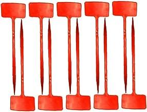 Plant Labels Boomkwekerij Lange T-Type Waterproof Tuinieren Tags Red 10st Plant label