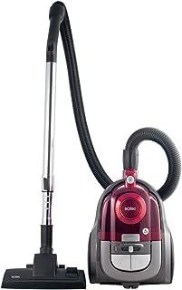 Solac Apollo Compact-Aspirador cicl?nico (600 W, regulador de Potencia, Capacidad 2,5 litros, accessorios), Rosa, 2 litros, Pl?stico, Negro, Rojo
