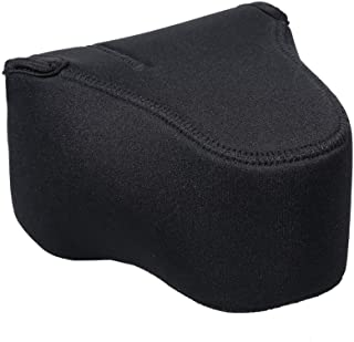 Neoprene Fitted Case for Nikon COOLPIX P1000 (Black) (Fits Hood Only When Reversed On Lens)