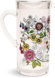 Vera Bradley Coral Floral Acrylic Pitcher, 57 Ounces
