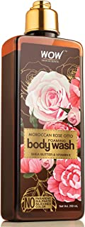 WOW Skin Science Rose Otto Foaming Body Wash - No Parabens, Sulphate, Silicones & Color, 250 ml