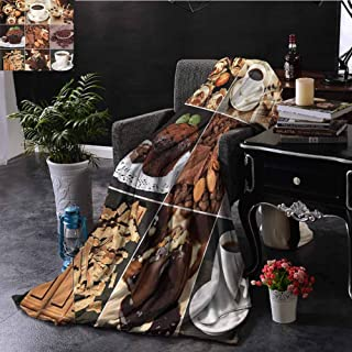 SSKJTC Kitchen Pink Throw Blanket Double-Sided Printing Coffees Cupcake Chocolate Livingroom Couch Bed Camping Picnic W40 xL60