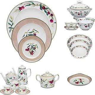 Vista Alegre Lychee Porcelain 100 Pieces Complete Dinnerware Set