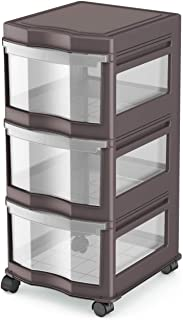 Life Story Classic 3 Shelf Home Storage Container Organizer Plastic Drawers, Gray photo