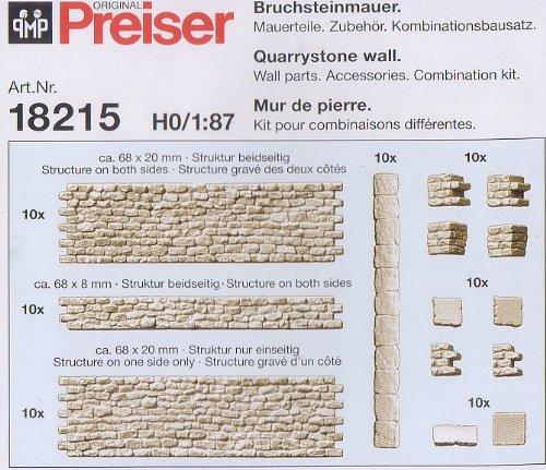 Preiser 18215 H0 Bruchsteinmauer