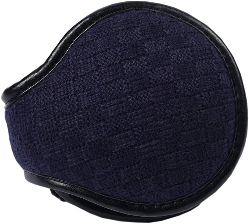 Unisex Outdoor Winter Warm Earmuffs Behind-the-Head Ear Muffs, Dark Blue