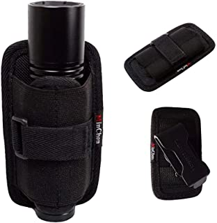 MinChen Flashlight Holster Pouch Belt Holster Duty Belt Carry Case Holder with 360° Rotatable Clip