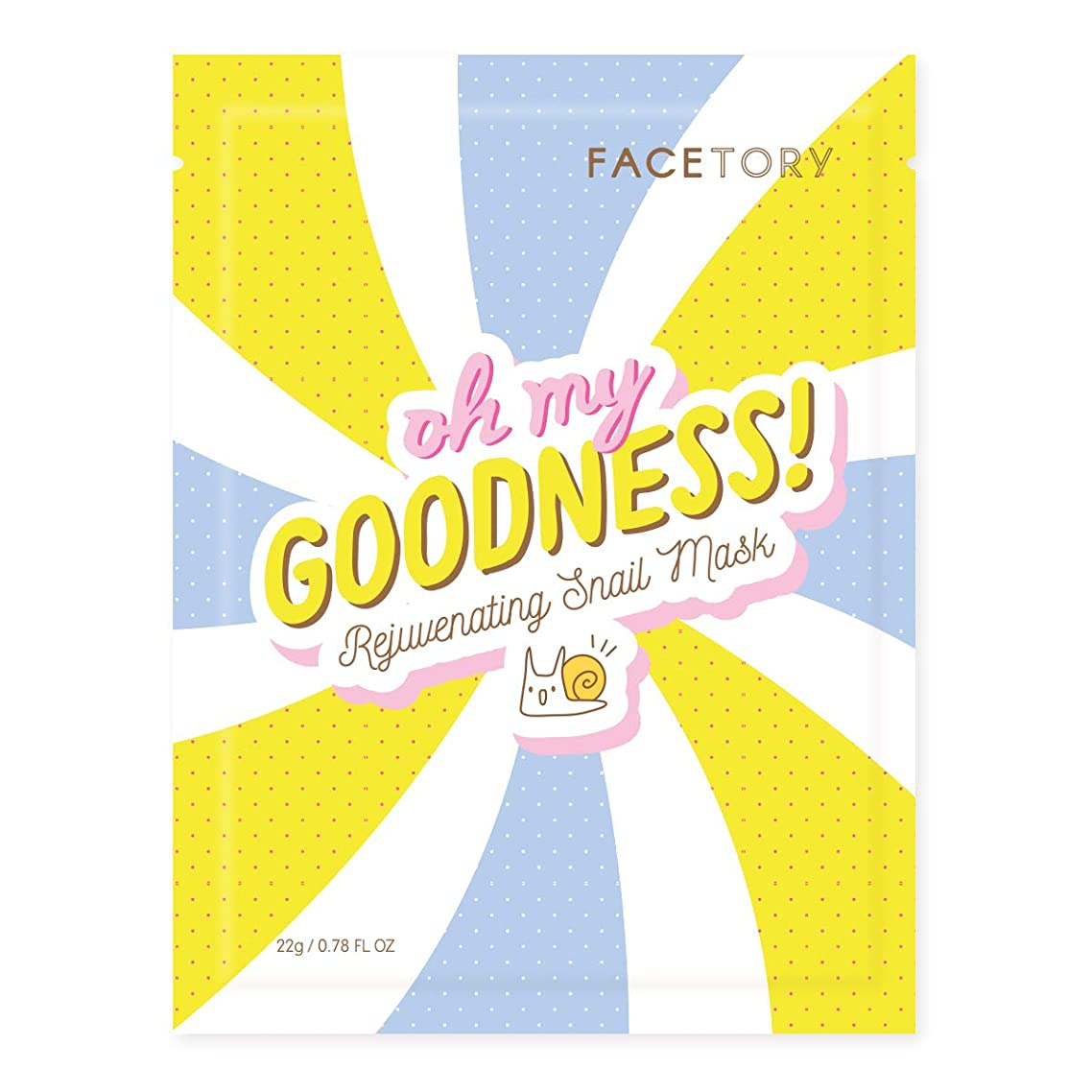 FaceTory Oh My Goodness Rejuvenating Snail Sheet Mask (Pack of 10)