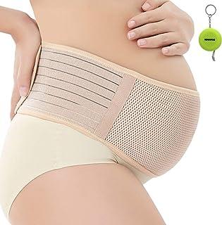 WANYI Fascia maternità Traspirante Regolabile Maternity Band Belt con Supporto Elastico e Confortevole per Donna Incinta-F...