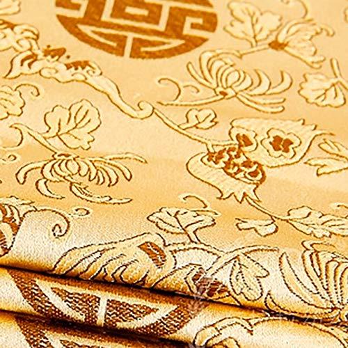 MUYUNXI Tela De Raso Forro De Tela para Vestidos De Novias Fundas Artesanas Vestidos Blusas Ropa Interior 75 Cm De Ancho Vendido por Metro(Color:Barro de Oro)