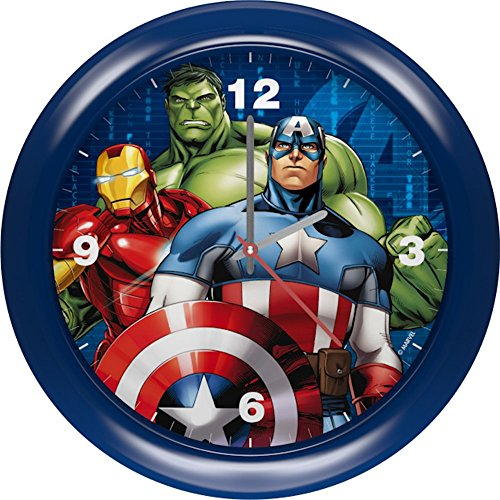 Star Licensing Orologio Avengers Marvel Supereroi da Parete E da APPOGGIO Diametro CM. 25,5- 45451BLU