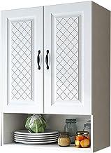 الحمام الخشب الصلب خزانة جدار المطبخ خزانة جدار غرفة تخزين غرفة نوم خزانة مرحاض خزائن الجانب (اللون: أبيض، الحجم: 60 * 30 ...