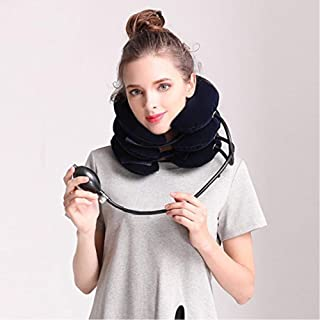 Inflatable Cervical Neck Traction Device - Improve Spine Alignment To Reduce Neck Pain Cervical Collar Adjustable JoyBuySaudi