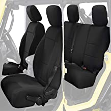 Waterproof Neoprene SUV Tailor Made Seat Cover Fit for Jeep Wrangler JK 2013-2018 Unlimited 4 Door Front Rear Seats Set,Black