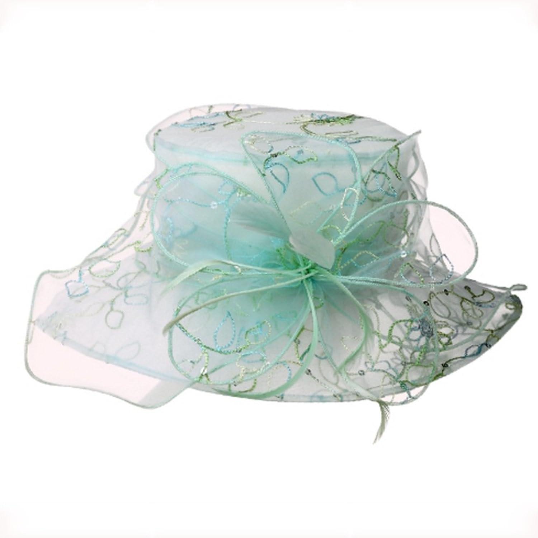 NAN Liang Sun Hat Beach Beach Hat Women Summer Fashion Korean Europe and America Lace Cooler Hat Visor Wild Trend (color   Light bluee)