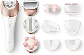 Philips Satinelle Prestige BRE650, Wet & Dry Hair Removal Epilator, Rechargeable, 10 accessories