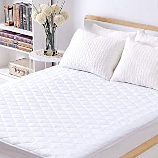 Sable Mattress Pad Protector, Twin Size Waterproof Quilted Topper Cover with FDA Certified Hypoallergenic Down
