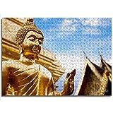 CCBRA Taj Mahal Golden Buddha Statue Juego Educativo Rompecabezas Rompecabezas de Juguete Tienda Hotel Familia decoración Especial 1000 Unids Rompecabezas de Madera