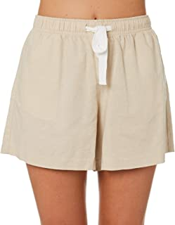 Nude Lucy Women's Nude Classic Short Cotton Linen White