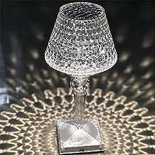 Crystal USB Tafellamp, Crystal USB Tafellamp, decoratieve nachtkastje lamp met 3-weg dimbaar, ideaal cadeau voor slaapkame...