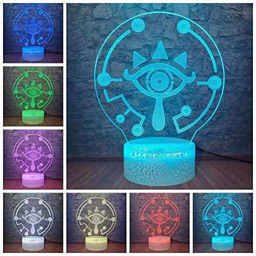 Luz De Ilusión 3D Luz De Noche Led Kids Game The Legend Of Zelda Breath Of The Wild Design Lámpara De Mesa Lámpara De Escritorio Teenage Room Decor Kid Gift