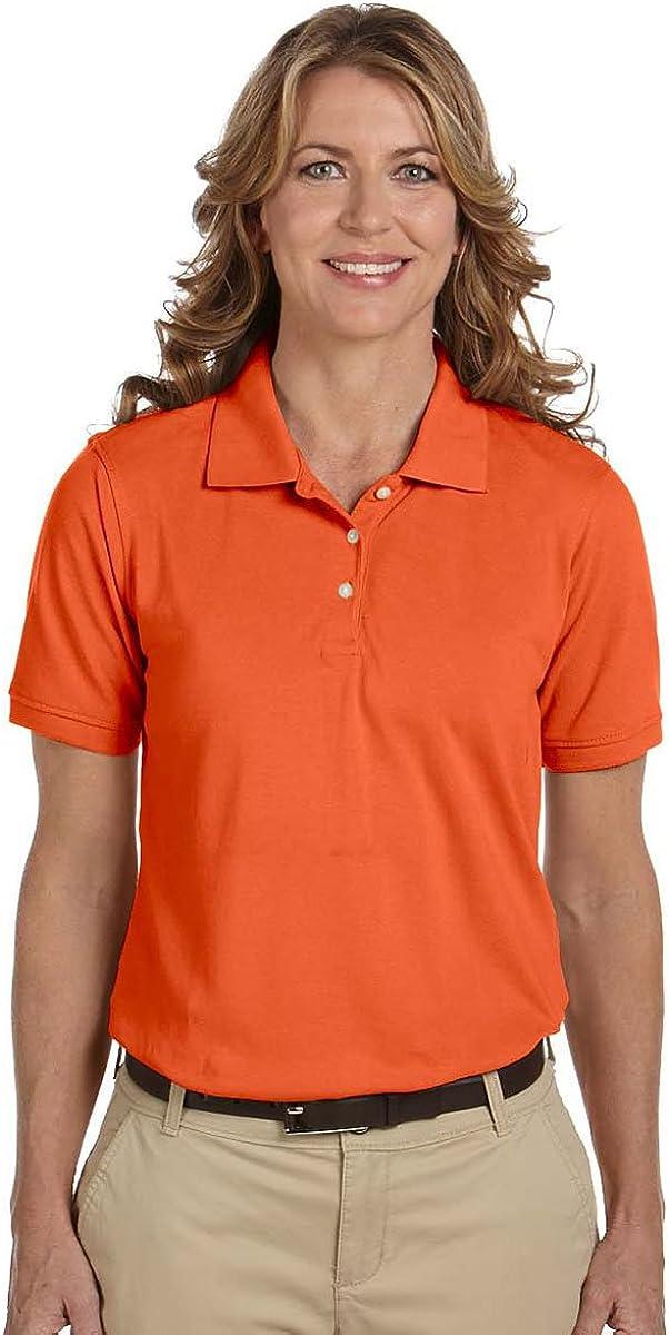Harriton womens 5.6 oz. Easy Blend Polo(M265W)-TEAM ORANGE-M