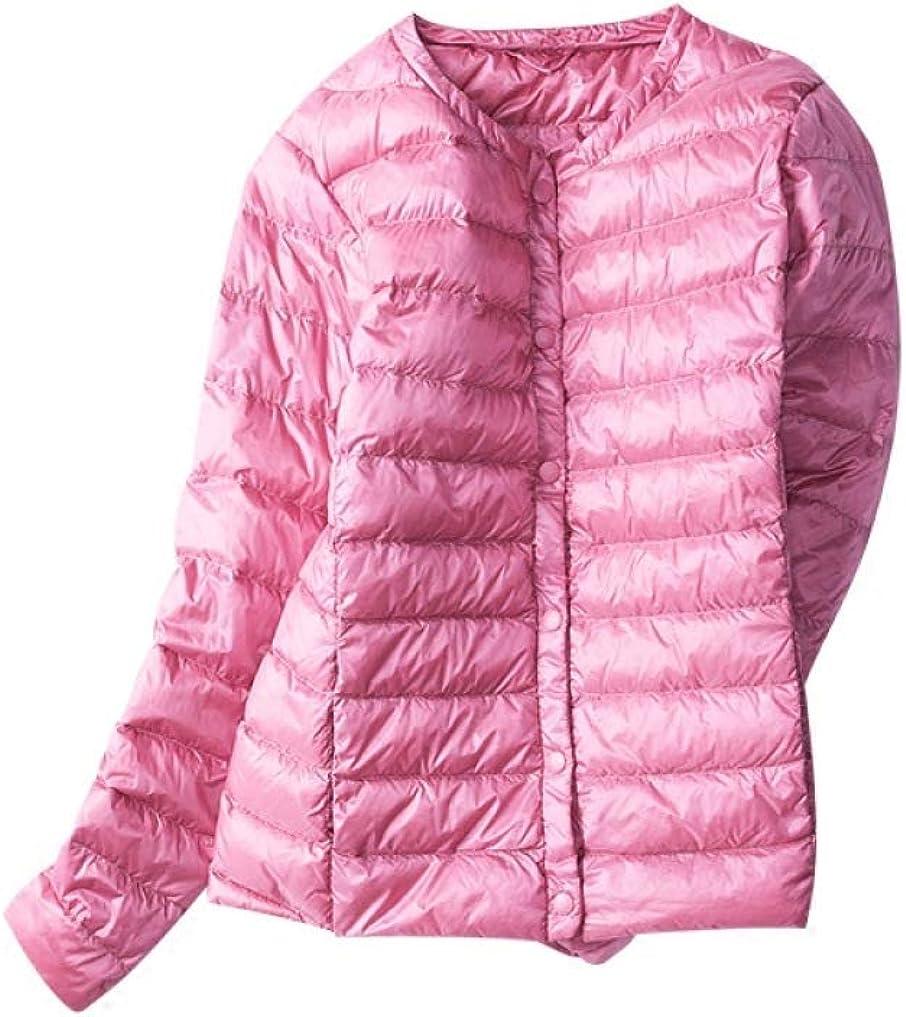 Autumn Winter Women Down Jacket White Duck Down Ultra Light Lightweight Warm Slim Thin Plus Size Short Coat