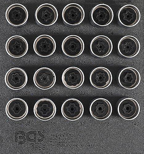 Bgs 9558Jante Serrure de Kit d'outils pour Opel, Vauxhall (type C)   20pièces