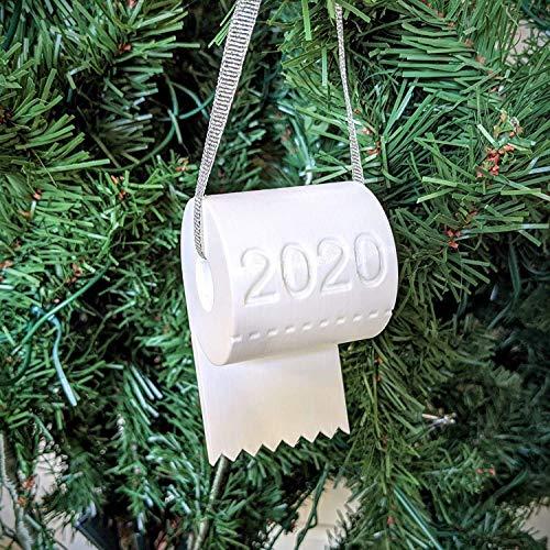 MINI Boutique 2020 Weihnachtsbaumschmuck, Weihnachtsmann mit Maske Ornament, weißer Zwerg Gartendekoration, Toilettenpapier Ornamente Geschenke für Familie Urlaub Party Dekoration