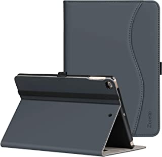 Ztotop Case for New IPad 9.7 Inch 2018/2017,Premium PU Leather Business Slim Folding Stand Folio Cover with Auto Wake/Sleep,Pencil Holder and Multiple Viewing Angles,Dark Gray