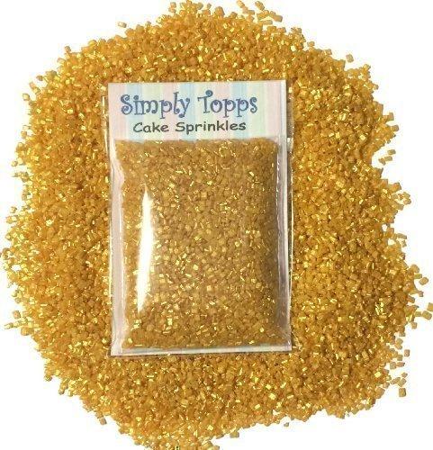 Funkelnde Zucker Kristalle 30g - Törtchen Kuchen Cupcake Streusel Zur Dekoration - Gold, Kristall