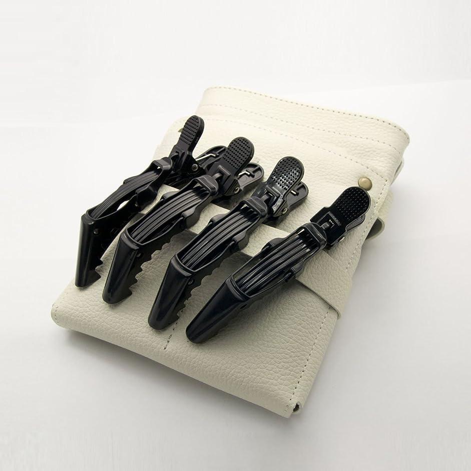 反対貫通する切り刻むDEEDS C-0010 プロ用 ワニクリップ ブラック 美容 クリップピン 黒 ヘアクリップ 美容小物