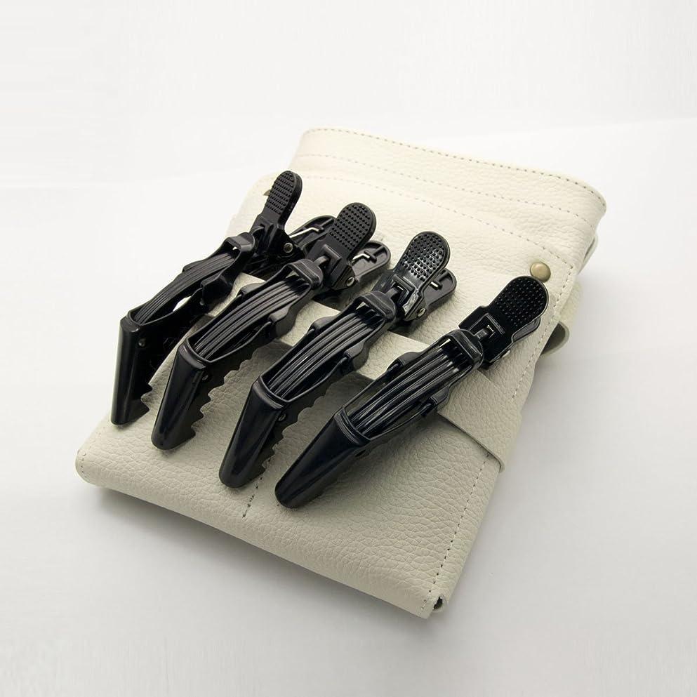 予約十分ではない大工DEEDS C-0010 プロ用 ワニクリップ ブラック 美容 クリップピン 黒 ヘアクリップ 美容小物