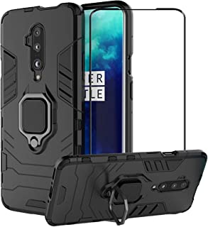 2ndSpring Case for OnePlus 7T Pro + Tempered Glass Screen Protector,Hybrid Heavy Duty Protection Shockproof Defender Kicks...