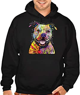 Interstate Apparel Inc Beware of Pit Bulls They Will Steal Your Heart Men's Hoodie Black