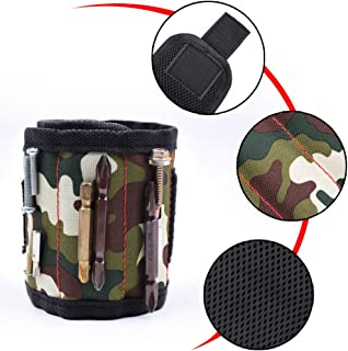 Magnetic Wristband Pocket Tool Belt Pouch Bag Screws Holding Working Helper A(Camouflage)