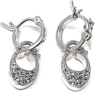 Signiture C Huggie Earrings Silver One
